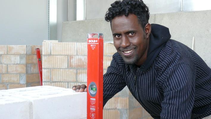 Eseyas Gebreamlak, Flüchtlingslehrling (Aufgenommen im Mai 2015)