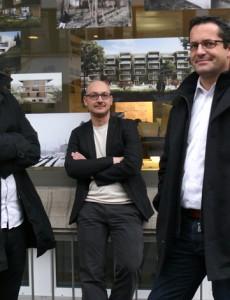 Ruben Daluz, Juan Gonzalez und Andi Cajos, Architekten (von links, aufgenommen im Januar 2016)