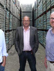Pierre Dubuis (mitte), Inhaber und Geschäftsführer Sobatech SA sowie PAL Solutions AG (rechts Eric Reichenbach, links Thomas Graf - Aufgenommen im Oktober 2014)